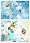 Papel decoupage pájaros, vintage, collage*Papier Decoupage Vögel, Vintage, Collage*Декупаж из бумаги птички, винтаж, коллаж