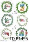 Boże Narodzenie, świąteczne wieńce, motywy na bombki, misie, łyżwy*Christmas, festive wreaths, motifs for baubles, teddy bears, skates