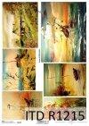 Papier decoupage malarstwo współczesne, motywy marynistyczne*Decoupage paper contemporary painting, marine motifs
