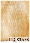 Papier decoupage żółte tło, plaster miodu*Decoupage paper yellow background, honeycomb