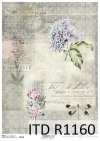 papier decoupage Vintage, kwiaty, ważki*Vintage papel decoupage, flores, libélulas