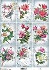 retro, vintage, flower, flowers, leaf, leaves, flower petals, rose, roses, R542