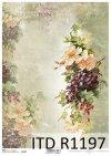 papier decoupage Vintage, róże, winogrona*Vintage decoupage paper, roses, grapes