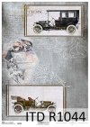 Papier ryżowy stare auta*Rice Paper old car