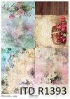 papier decoupage tła, tapety, kwiaty, ptaki*decoupage paper backgrounds, wallpapers, flowers, birds