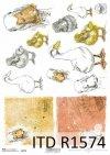 Papier decoupage Wielkanoc, szczęśliwa farma, kaczki, gęsi*Easter decoupage paper, happy farm, ducks, geese