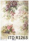 papier decoupage owoce, winogrona, róże, morele*Paper decoupage fruits, grapes, roses, apricots