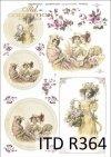 vintage, retro, kobieta, sukienka, kwiaty, róża, róże, dekoracje kwiatowe, ornamenty, medalion, ramka, romantyzm, R364