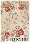 papier decoupage kwiaty, Home Sweet Home*Paper decoupage flowers, Home Sweet Home