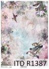 Papier decoupage wiosna, ptaki, kwiaty*Spring decoupage paper, birds, flowers