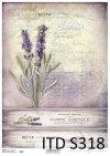 papier decoupage Lawenda*paper decoupage Lavender
