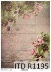 papier decoupage róże, wiśnie*Paper decoupage roses, cherries