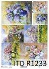 Papier decoupage malarstwo współczesne, kwiaty*Papier Decoupagepapier zeitgenössische Malerei, Blumen