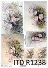 Papier decoupage malarstwo współczesne, kwiaty*Paper decoupage contemporary painting, flowers