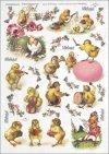 Easter, chickens, flowers, spring, eggs, Easter eggs, R284