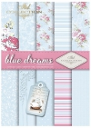 SCRAP-041 ''blue dreams'' scrapbooking papers set * zestaw papierów do scrapbooking 0
