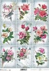 retro, vintage, flower, flowers, leaf, leaves, flower petals, rose, roses, R542