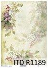 papier decoupage kwiaty, Bzy * Paper decoupage flowers, lilacs
