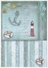 Conjunto creativo sobre papel de arroz Sea Stories*Kreativset auf Reispapier Sea Stories*Креативный набор на рисовой бумаге Sea Stories