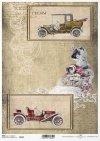 Coche viejo papel de arroz*Rice Paper staré auto*Reis-Papier altes Auto