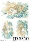 papier decoupage Vintage Łabędzie*paper decoupage Vintage Swans