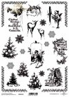 Papel scrapbooking vintage, árbol de navidad, cupidos, navidad*Scrapbooking Papier der Weinlese, Weihnachtsbaum, Amoren, Weihnachten*Винтажная бумага для скрапбукинга, новогодняя елка, амуры, рождество