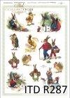 Wielkanoc, króliki, zające, kwiatki, wiosna, jajka, pisanki, R287