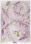 flores de papel decoupage, colibrí*decoupage papírové květiny, kolibřík*decoupage Papierblumen , Kolibri