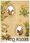 Papier decoupage ramki, polowanie, grzyby*The paper decoupage frame, hunting, mushrooms