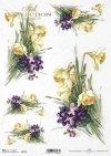 Decoupage Papierblumen -Reispapier Blumen*Decoupage de papel de arroz flores-flores de papel