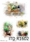 Akwarele, romantyczne zakątki, wiejskie widoczki, domek w kwiatach * Watercolors, romantic nooks, rural vistas, a house in flowers