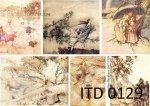 Papier decoupage ITD D0129M