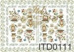 Decoupage paper ITD 0111M