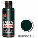 Farba akrylowa Basic Acryl 80 ml Tannengrun 075