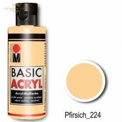 Farba akrylowa Basic Acryl 80 ml Pfirsich 224