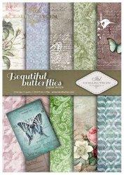 .Papier do scrapbookingu SCRAP-016 ''beautiful butterflies''
