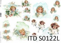 Papier decoupage SOFT ITD S0122L