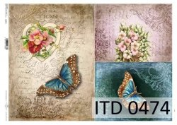 Papier decoupage ITD D0474M