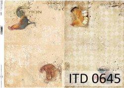 Papier decoupage ITD D0645