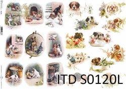 Papier decoupage SOFT ITD S0120L