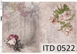 Papier decoupage ITD D0522
