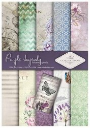 .Papier do scrapbookingu SCRAP-013 ''Purple rhapsody''