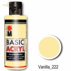 Farba akrylowa Basic Acryl 80 ml Vanilla 222