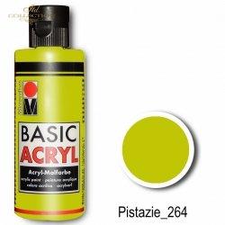 Farba akrylowa Basic Acryl 80 ml Pistazie 264