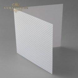 Baza do kartki BDK-017 - 150x150 mm * Biel naturalna, kwadraciki