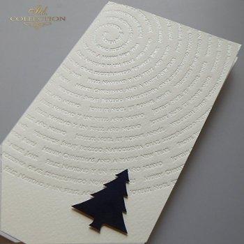 Рождественская и Новогодняя открытка K619
