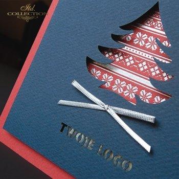 Рождественская и Новогодняя открытка K576
