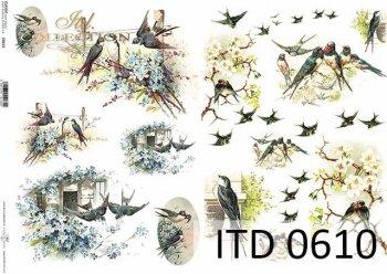 бумага для декупажа классическая D0610