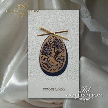 Пасхальная открытка с конвертом KW247