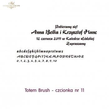 Czcionka na zaproszenie 11